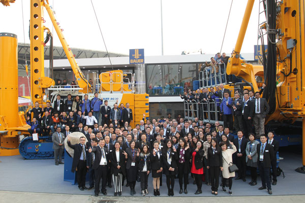 Bauer-Team auf der Bauma China in Shanghai. © BAUER Group